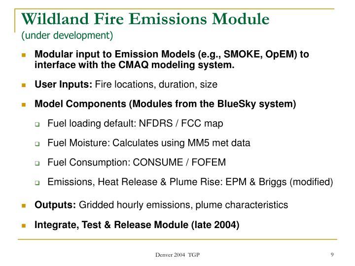 Wildland Fire Emissions Module