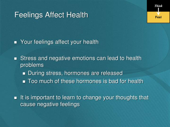 Feelings Affect Health