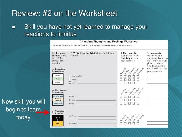 Review: #2 on the Worksheet