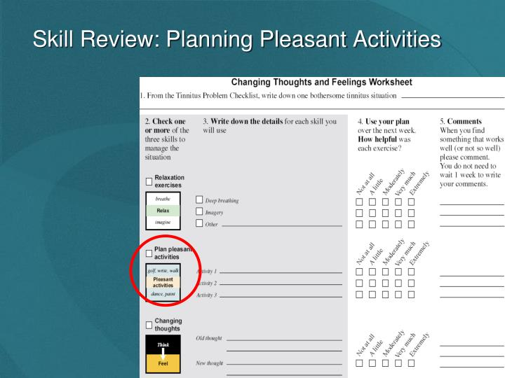 Skill Review: Planning Pleasant Activities