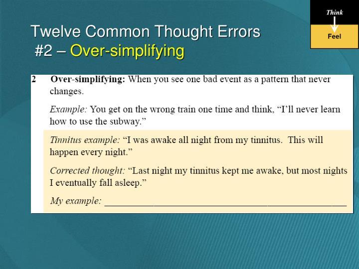 Twelve Common Thought Errors