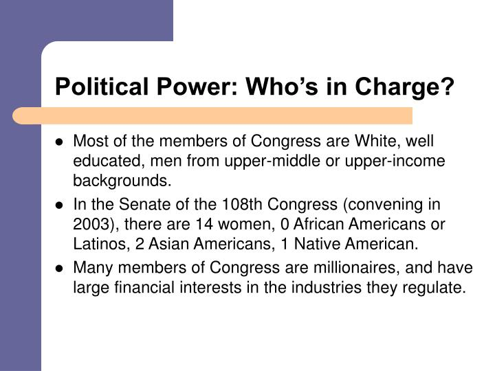 Political Power: Who's in Charge?