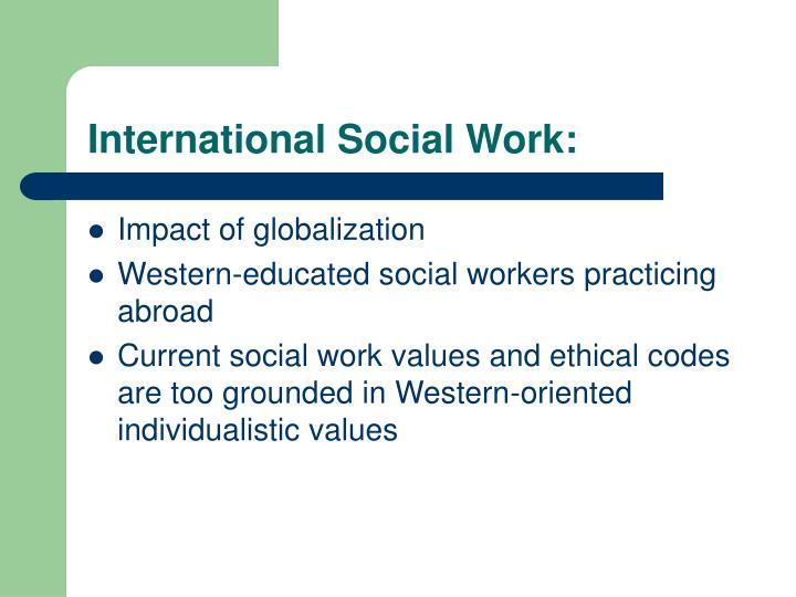 International Social Work: