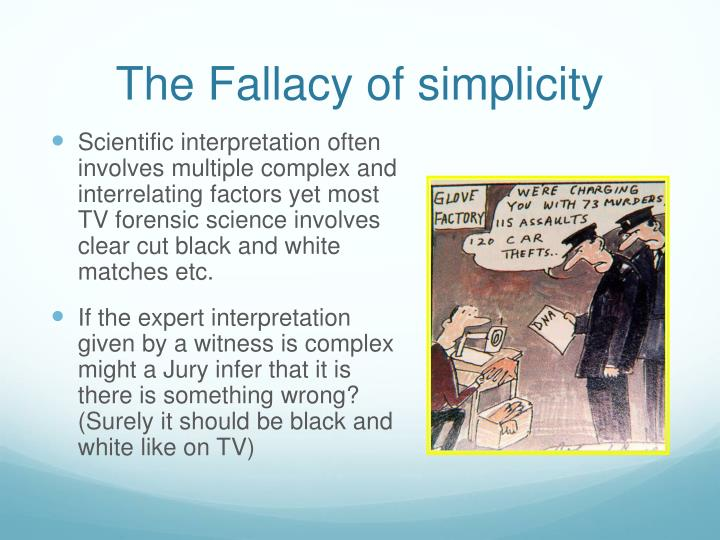The Fallacy of simplicity