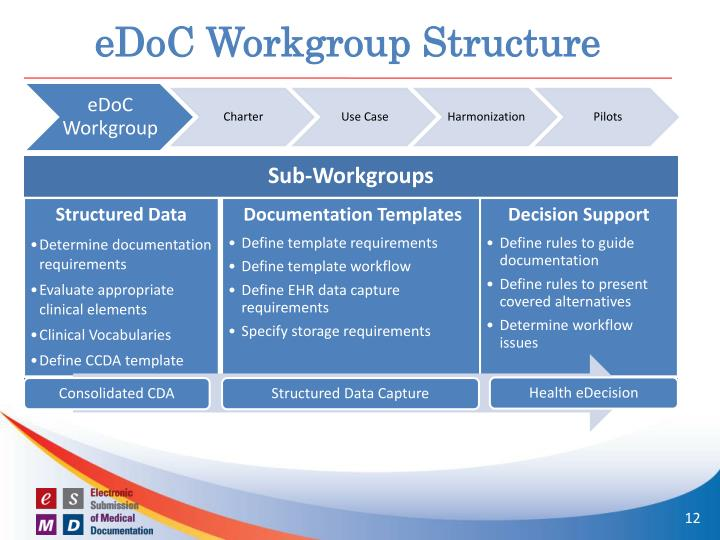 eDoC Workgroup Structure