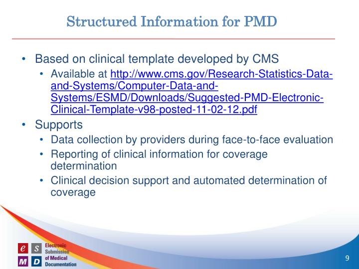 Structured Information for PMD
