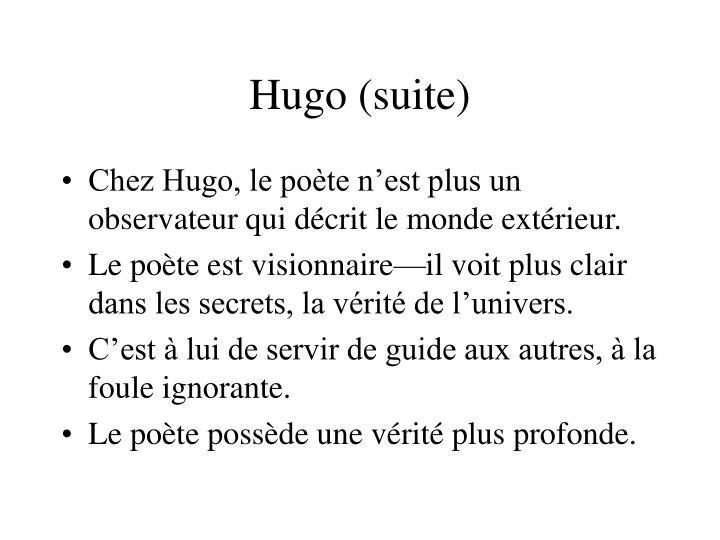 Hugo (suite)