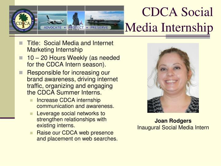 CDCA Social Media Internship