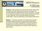 sbioi purpose mission