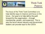 think tank purpose