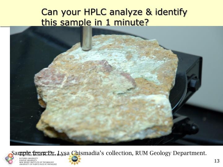 Can your HPLC analyze & identify this sample in 1 minute?