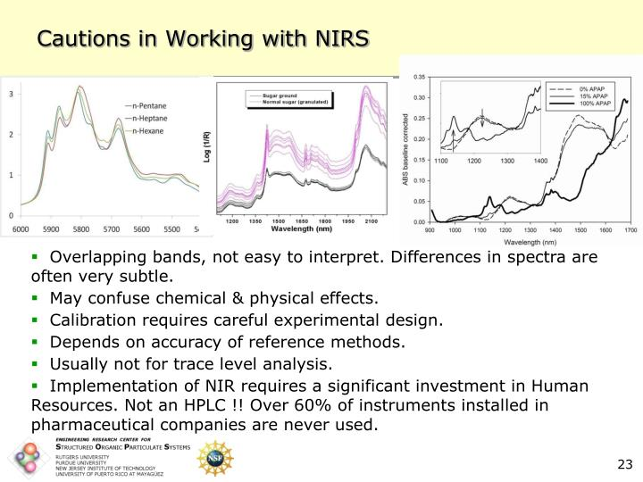 Cautions in Working with NIRS