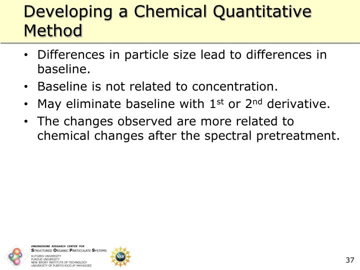 Developing a Chemical Quantitative Method