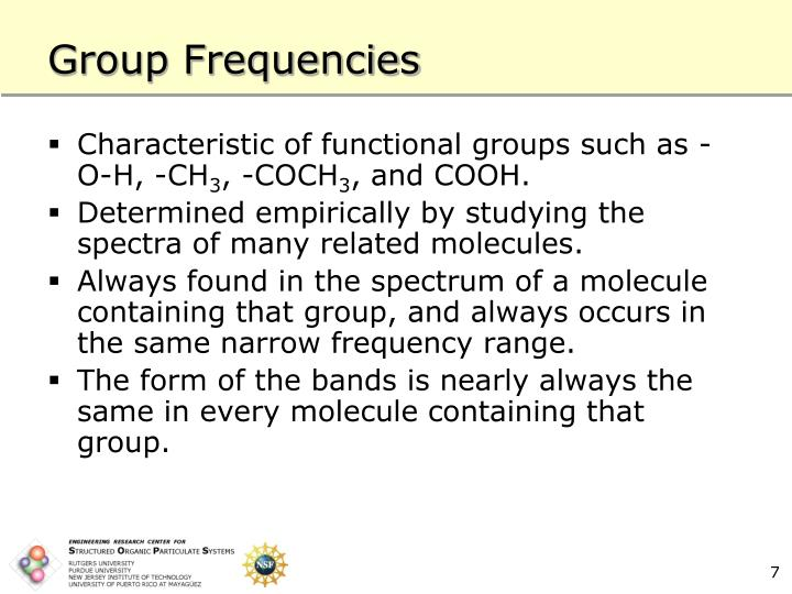Group Frequencies