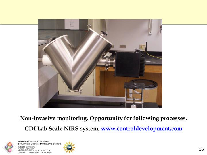 Non-invasive monitoring. Opportunity for following processes.