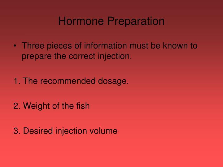 Hormone Preparation