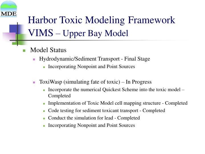Harbor Toxic Modeling