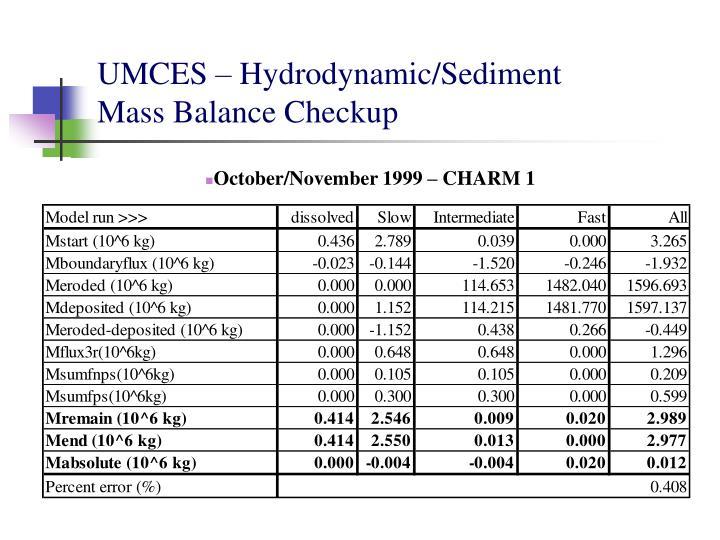 UMCES – Hydrodynamic/Sediment