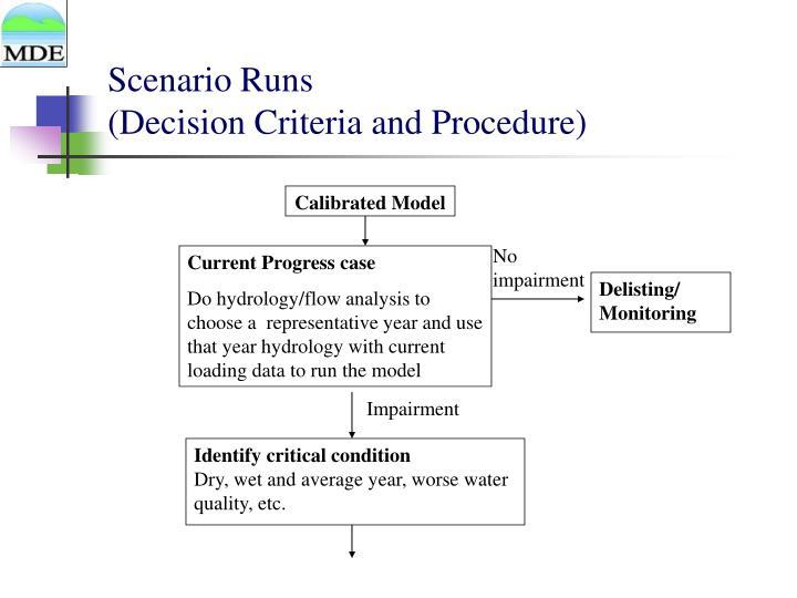 Scenario Runs