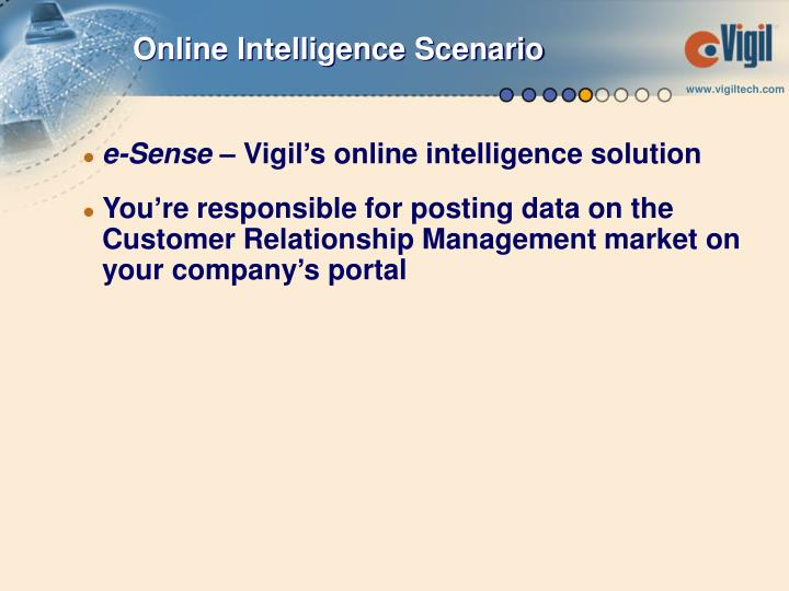 Online Intelligence Scenario