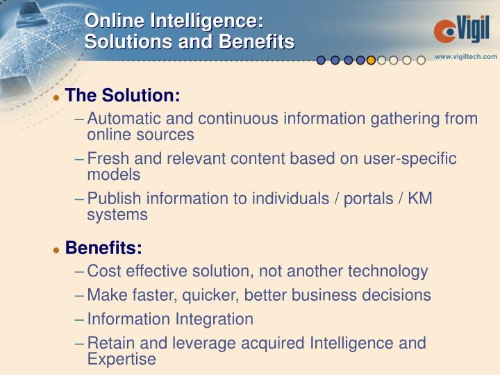 Online Intelligence: