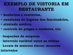exemplo de vistoria em restaurante1