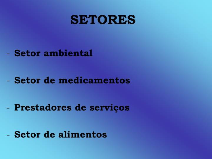 SETORES