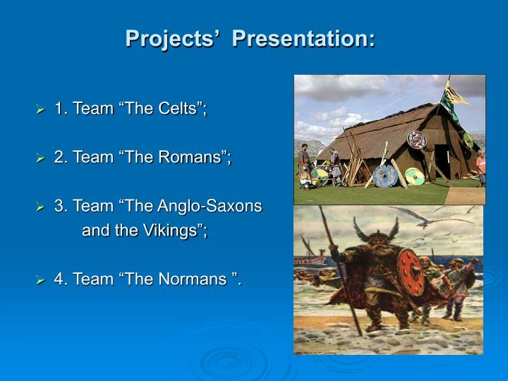 Projects'  Presentation: