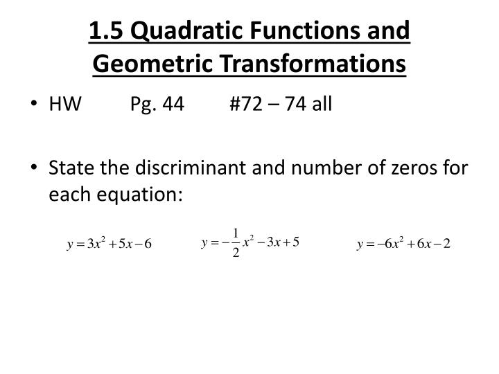 1 5 quadratic functions and geometric transformations