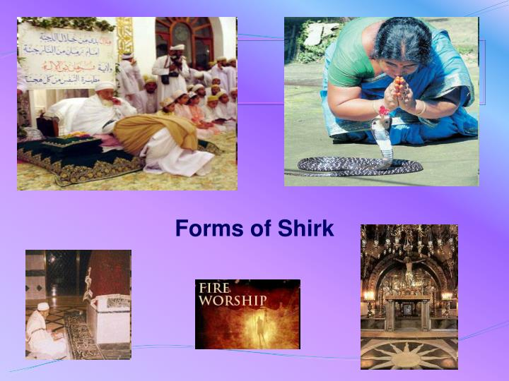 Forms of Shirk