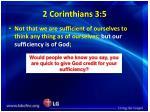 2 corinthians 3 5