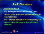 paul s testimony