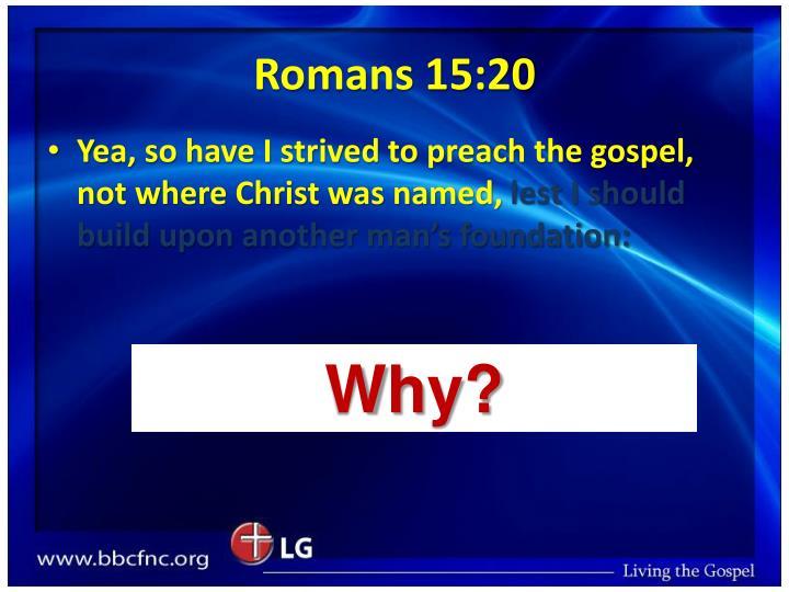 Romans 15:20