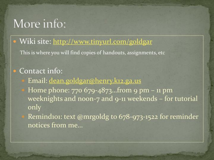 More info:
