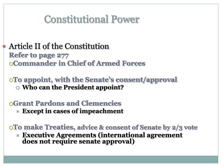 Constitutional Power