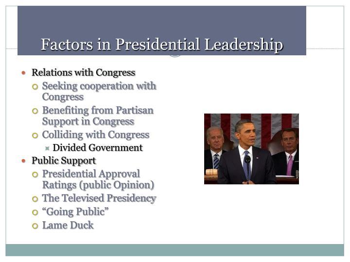 Factors in Presidential Leadership