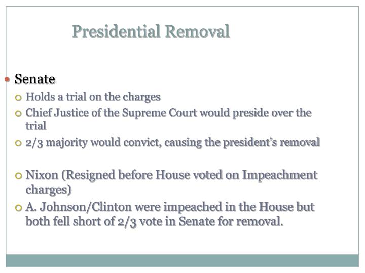 Presidential Removal