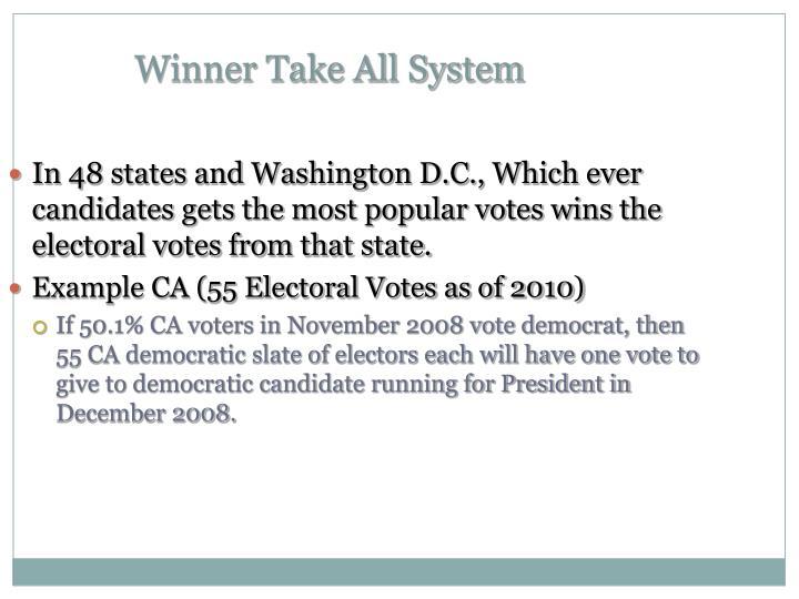 Winner Take All System