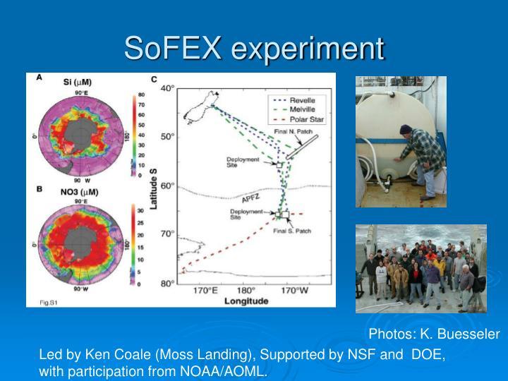 SoFEX experiment