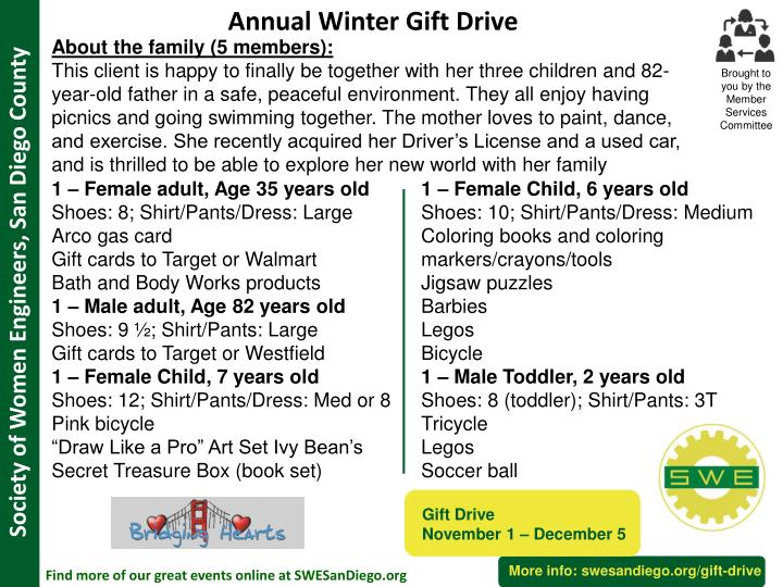 Annual Winter Gift Drive