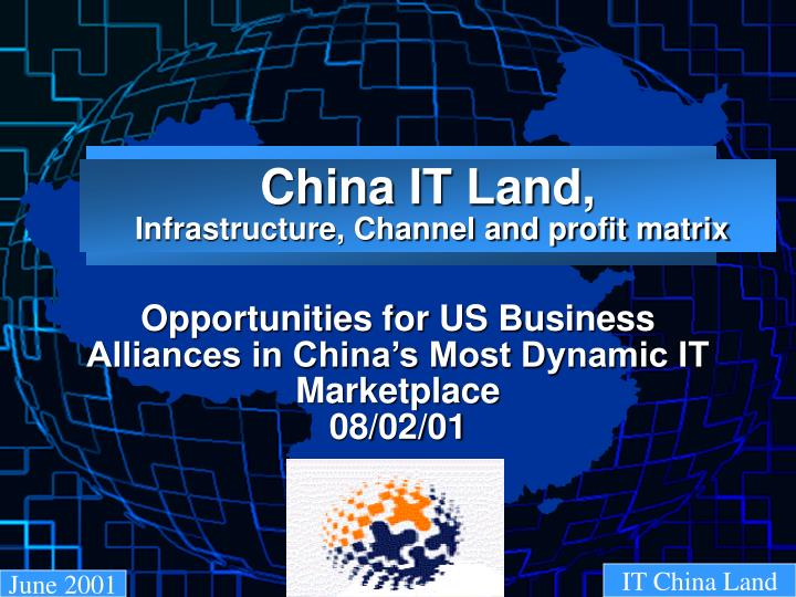 China it land infrastructure channel and profit matrix