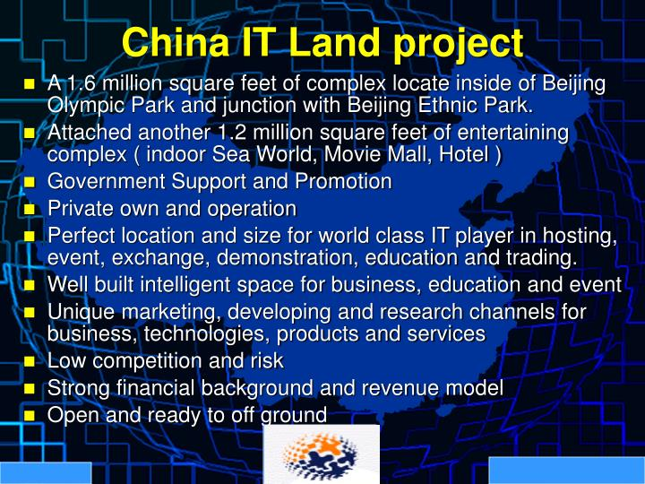 China IT Land project