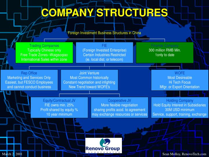 COMPANY STRUCTURES