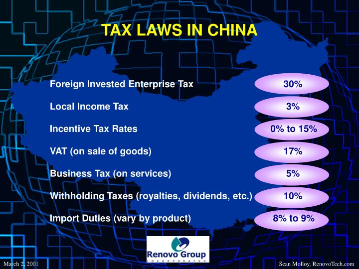TAX LAWS IN CHINA