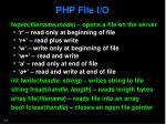 php file i o