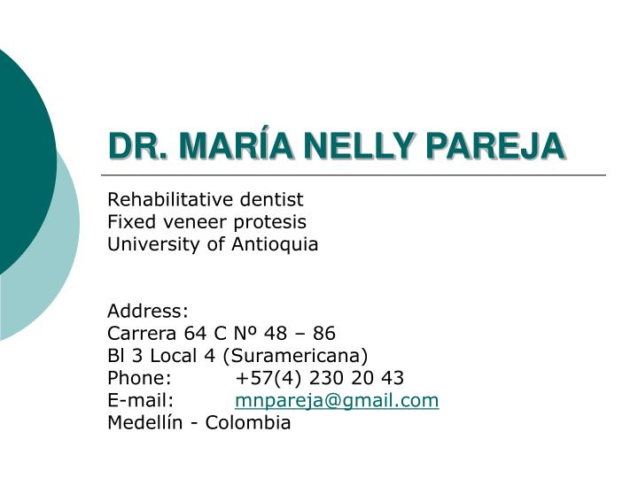 Dr mar a nelly pareja