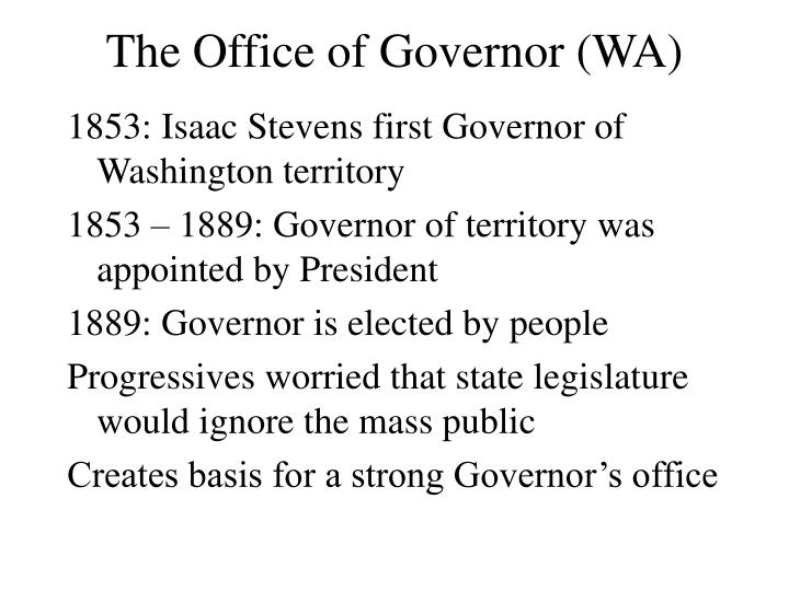 The Office of Governor (WA)