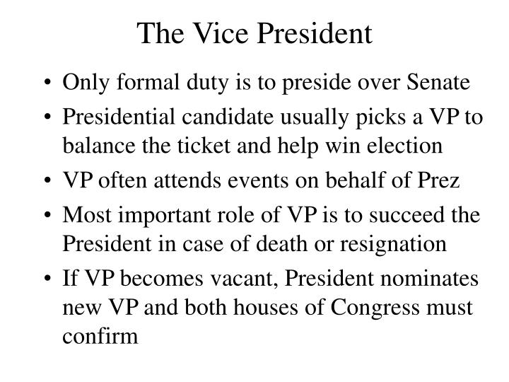 The Vice President