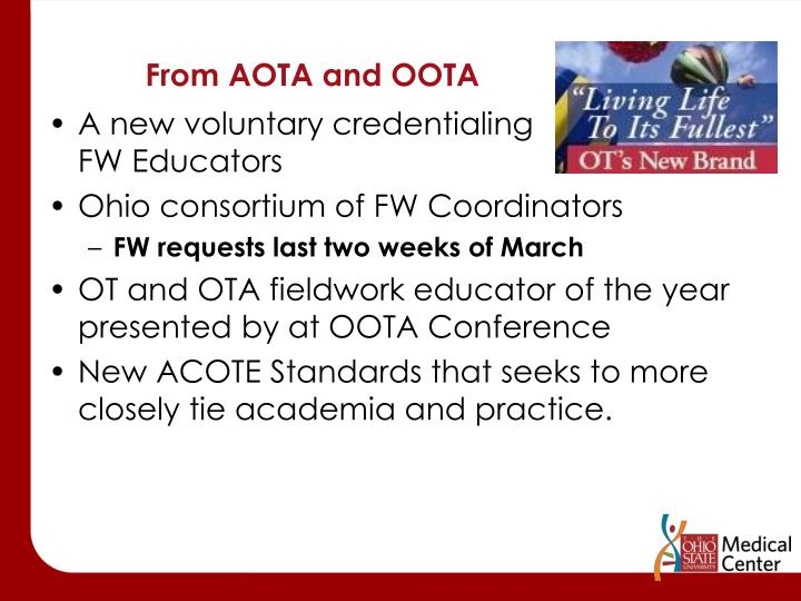 From AOTA and OOTA