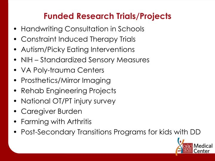 Funded Research Trials/Projects